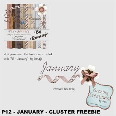 Romajo - P12 January - Cluster Freebie Preview