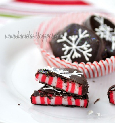 candy cane peppermint patties at Hanielas