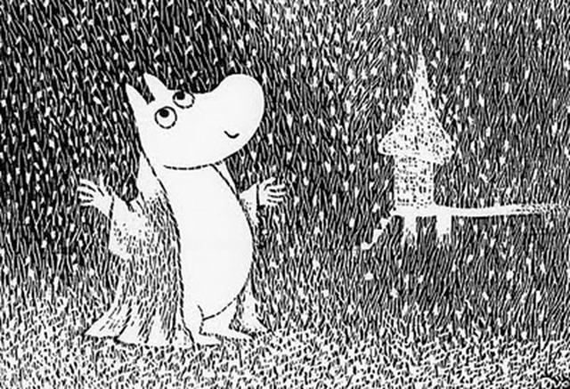 Moomin snow