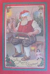 2011 Holiday.Christmas cards layered Santa