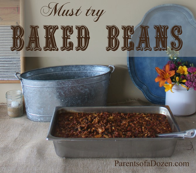Must try Baked Beans from ParentsofaDozen.com Food for a Country Party!