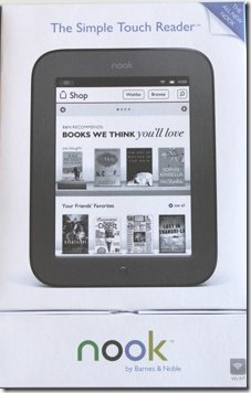 the new nook simple touch e-reader
