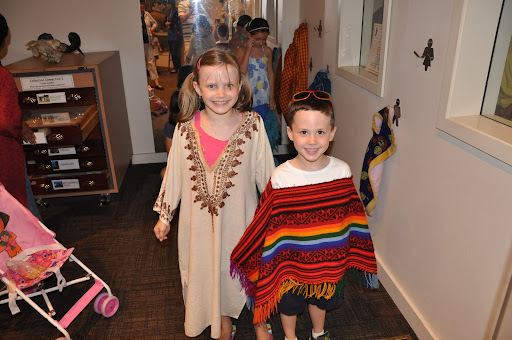 Natalie and Eli in their authentic dress.
