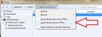 จัดการ Move bookmark ไป chrome