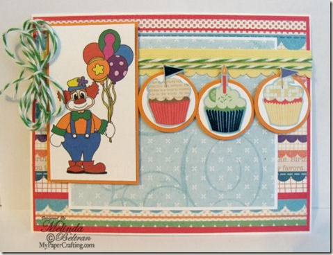 birthday clown card-475