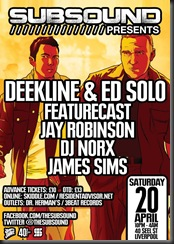 SubSound Liverpool Deekline and Ed Solo