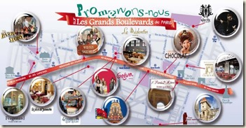 Carte des attractions sur les Grands Boulevards