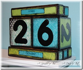 Perpetual Calendar Blocks After {A Sprinkle of This . . . . A Dash of That}