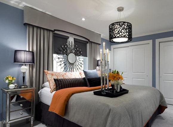 dormitorios en tonos color azul