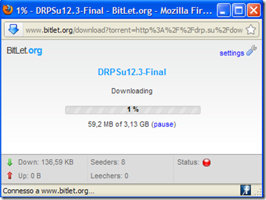 BitLet download file torrent