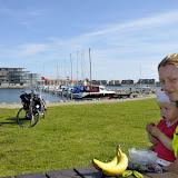 På vej ud af Nyborg blev det tid til en lille guf-pause. Her ved lystbådehavnen