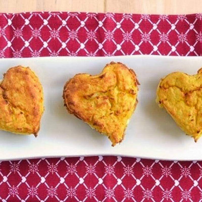 Καρδίες πατάτας με σπανάκι και μπέικον