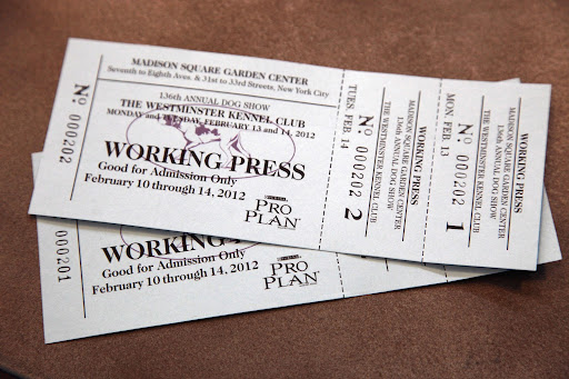 Two press tickets!  One for you and one for me!