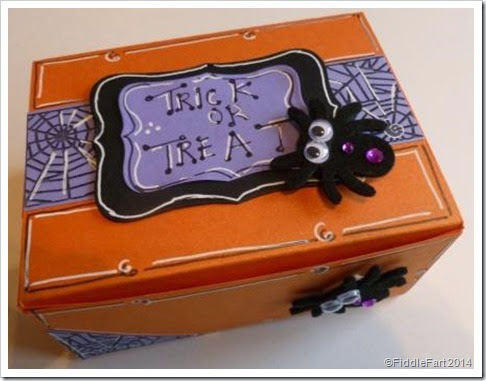 Halloween Trick or Treat Box using Sizzix Box Die