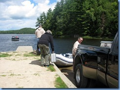 7296 Restoule Provincial Park - Stormy Lake boat launch - Bill, Janette & Peter