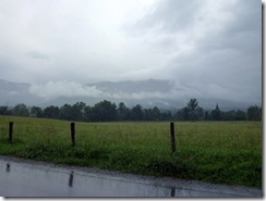 Rain moving in at Cades Cove