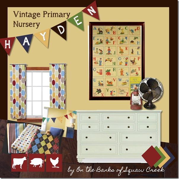 Vintage Nursery Moodboard