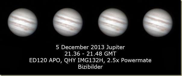 5 December 2013 Jupiter