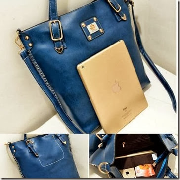 U4122 BLUE (203.000) - PU Leather, 41 x 33 x 12