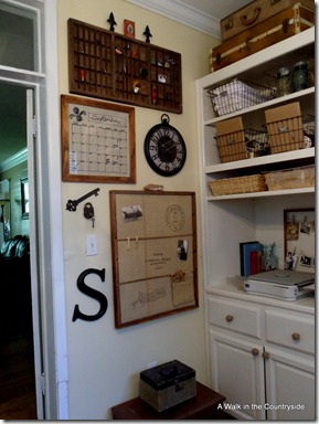 A Walk in the Countryside Organization Wall for Home Office