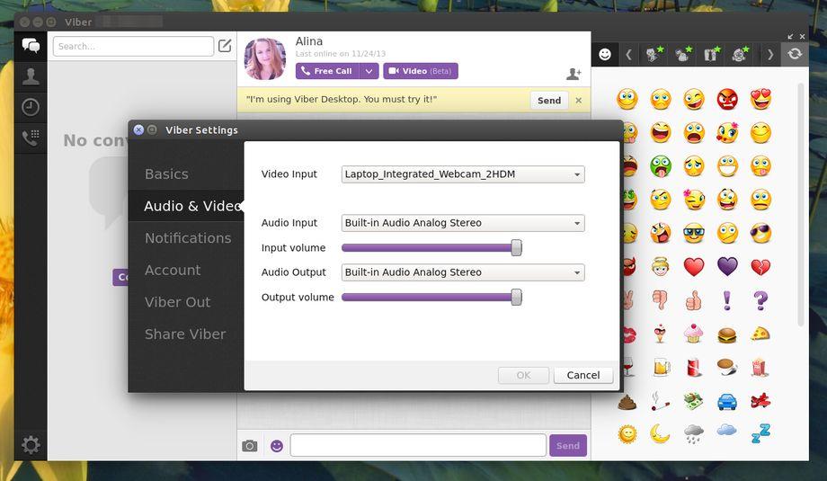 Viber 4.2 in Ubuntu