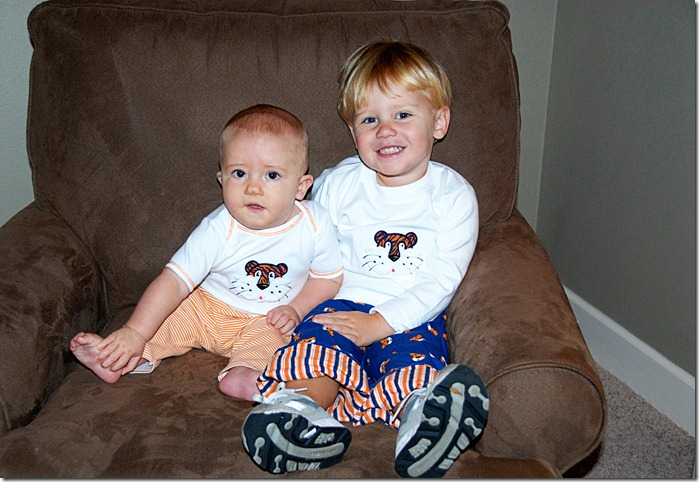 J and T in aubie shirt