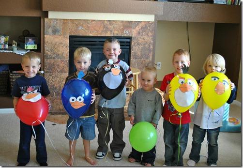 angry bird balloons