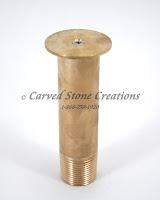 "3/4"" Brass Bell Water Film Nozzle. Mushroom/Hemisphere Nozzle."