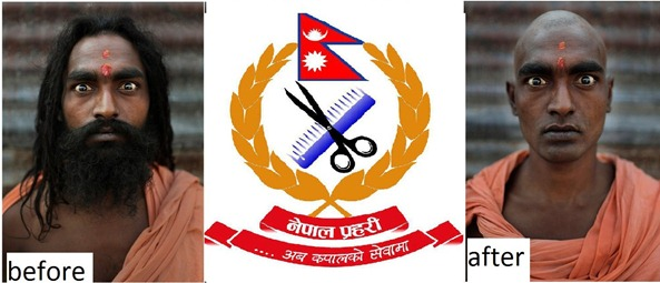 nepal-police-hair-cut-before-and-after