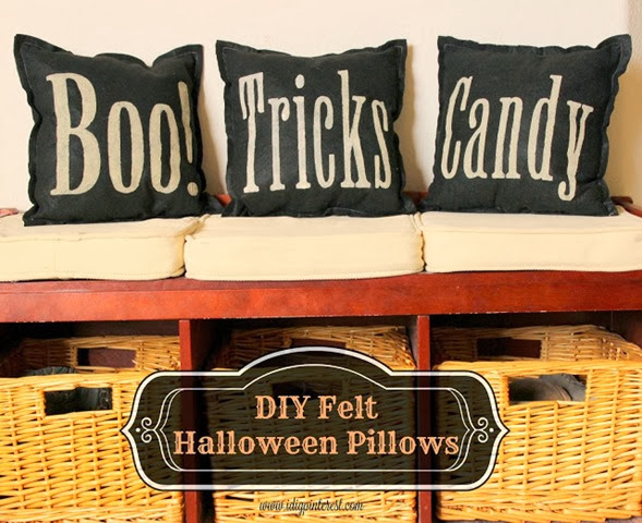 felt halloween pillows