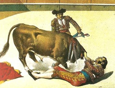 1886-08-00 La Lidia Cogida de Manuel Dominguez (Detalle) 001