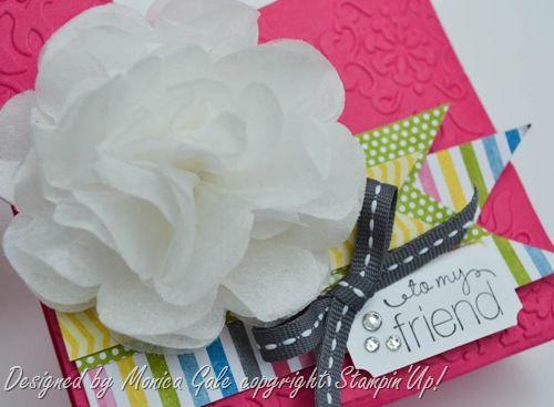 Oh hello, Stampin Up, Pop n Cuts gift bag close