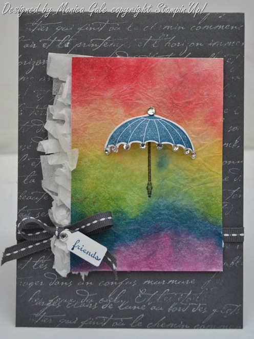 Rainbow Technique Tutorial, Stampin'Up!Rain or shine