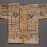 Talismanic shirt, 15th or early 16th century India (north India or the Deccan). Ink, gold, and colors on stiffened cotton