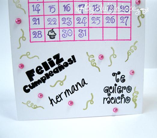 Feliz cumpleaños Card - Happy Borthday Card - Sellos en español - Color Paws - Ruthie Lopez - My Hobby My Art 3