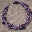 Фиолетовый сумрак. Бусы из пластики-2.jpg