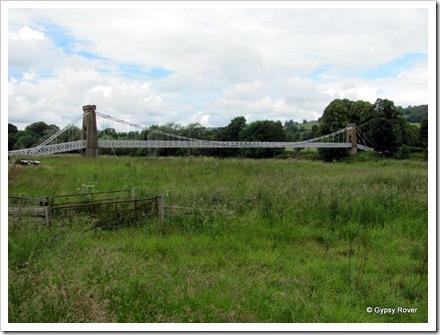 Chainlink bridge over the river Tweed between Melrose & Gattonside.