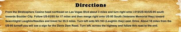 Directions - Davis Dam