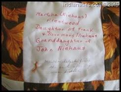Martha Niehaus Fleetwood quilt square