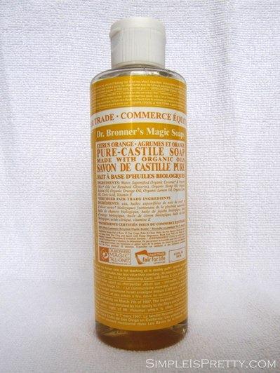 simpleispretty.com: Dr. Bronner's Castile Soap