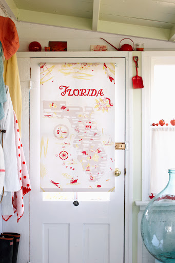 This tablecloth was transformed into a window shade. (Martha Stewart Living, July 2010)