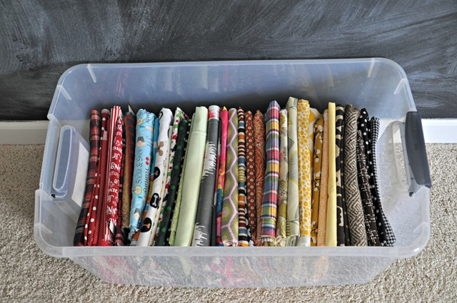 Fabric storage with comic book boards