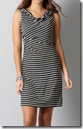Loft Navy and White Striped Dress