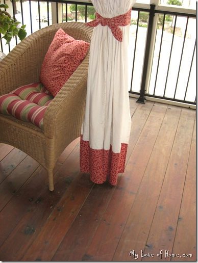 Canvas Curtains, outdoor, red, banded,