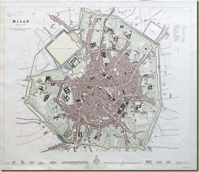 Old Milan Canal Map