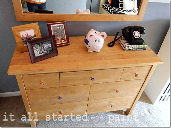 teen room orange black gray dresser NEW
