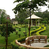 Jardins entourant le temple