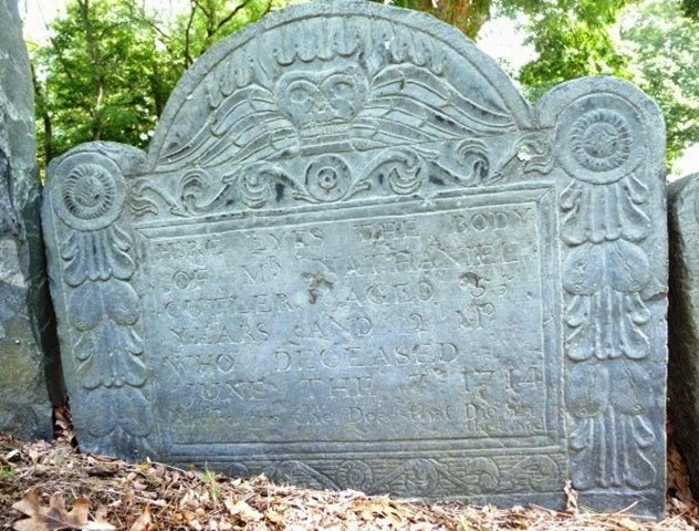 Copy of CUTLER_Nathaniel_headstone_1659-1714_OldBuringGround_WakefieldMiddlesexMassachusetts_enhanced