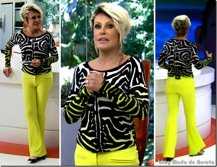 moda do programa mais você - ana maria braga dia 09 de outubro de 2013