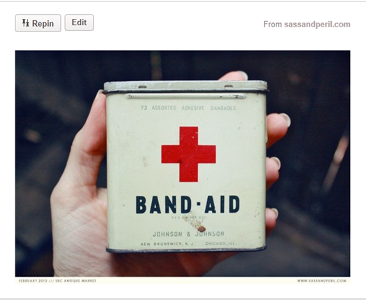 Pinterest Inspiration Band-Aid Sign